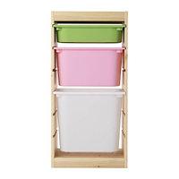 стеллаж для игрушек ТРУФАСТ сосна/разноцветный ИКЕА,  IKEA