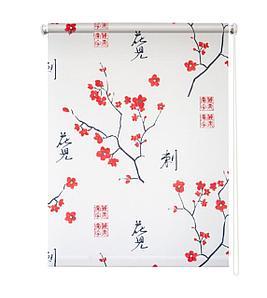 Рулонная штора «Япония», 100х175 см, цвет белый