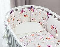 Комплект в кроватку Акварель Oval 6 предметов (Perina, Беларусь)