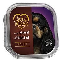 Влажный корм для взрослых собак всех пород Lovely Hanter Adult Beef&Rabbit с говядиной и кроликом