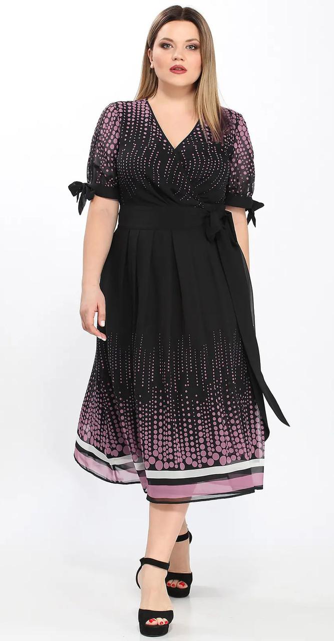 Платье Lady Secret-3583, черный-бледно-розовый, 52