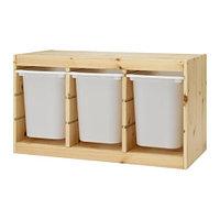 стеллаж для игрушек ТРУФАСТ сосна, белый ИКЕА, IKEA, фото 1