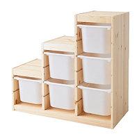 Стеллаж д/хранения игрушек ТРУФАСТ сосна белый ИКЕА, IKEA