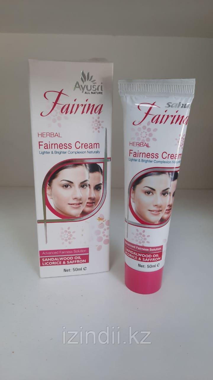 Аюрведический  отбеливающий крем для лица Fairina Herbal Fairness Cream, 50 мл, Ayusri