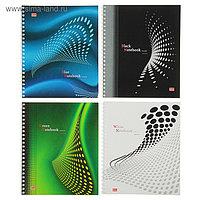 Тетрадь 48 листов в клетку, на гребне Color Notebook, обложка мелованный картон, выборочный лак, МИКС