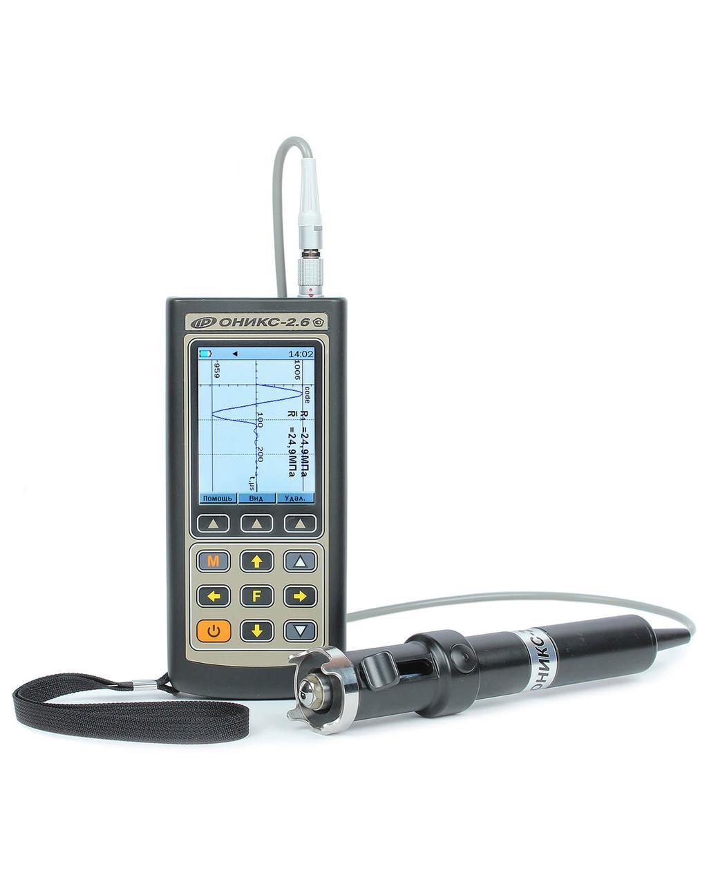 Измеритель прочности (дефектоскоп) строительных материалов ОНИКС-2.6