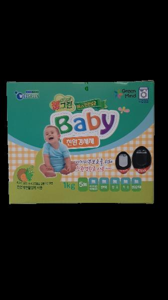 """Концентрированный детский стиральный порошок """"WELGREEN BABY LAUNDRY DETERGENT"""" 1кг."""