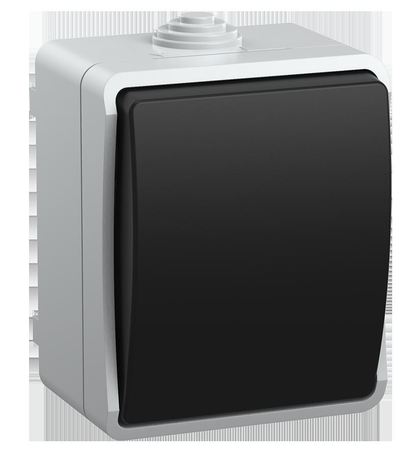 Выключатель ВС20-1-0-ФСр одноклавишный для открытой установки ФОРС IP54 IEK