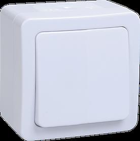 Выключатель ВС 20-1-0-ГПБ однокл. о/у IP54 ГЕРМЕС PLUS (белый) ИЭК