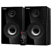 SVEN SPS-615, чёрный, акустическая система 2.0, мощность 2х10Вт (RMS), USB/SD, пульт ДУ, Bluetooth /