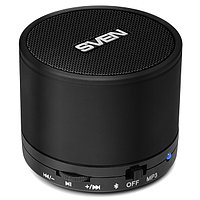 Колонки SVEN PS-45BL, black (3W, Bluetooth, microSD, FM, 300mA*h) /