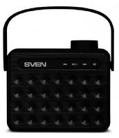 Беспроводная колонка АС SVEN PS -72, черный (6 Вт, Bluetooth, FM, USB, microSD, ручка, 1200мА*ч)