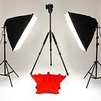 2 х Софтбокс комплекта 50×70 на 4 лампы на стойках + 8 ламп по 30 Ватт для постоянного света, фото 3