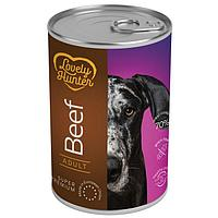 Влажный корм для взрослых собак всех пород Lovely Hanter Adult Beef с говядиной