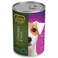 Влажный корм для взрослых собак всех пород Lovely Hanter Adult Chicken&Duck с курицей и уткой