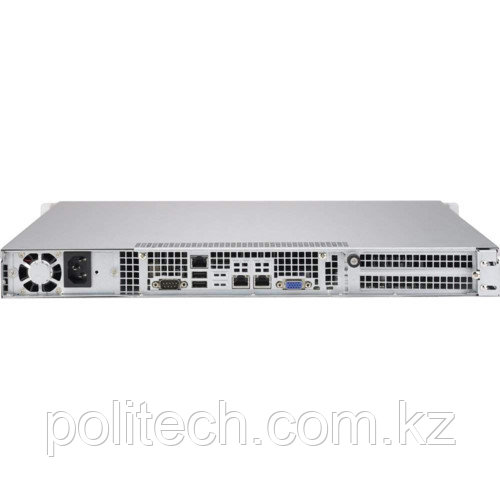 "Сервер Supermicro CSE-813MFTQC-505CB/X10SRI-F SMR0104 (1U Rack, Xeon E5-2620 v4, 2100 МГц, 8 ядер, 20 Мб, 1x 16 ГБ, 3.5"", 4 шт, Без HDD)"