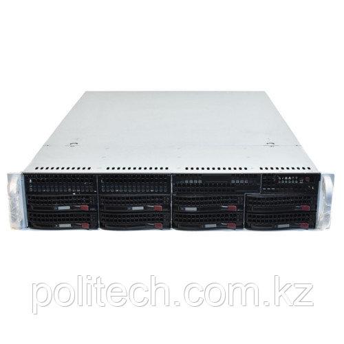 "Сервер Supermicro CSE-825TQ-R740LPB SMR0133 (2U Rack, Xeon E3-1220 v6, 3000 МГц, 4 ядра, 8 Мб, 1x 8 ГБ, 3.5"", 8 шт, Без HDD)"