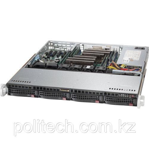 "Сервер Supermicro CSE-813MFTQC-505CB/X11DPL-I SMR0109 (1U Rack, Xeon Bronze 3104, 1700 МГц, 6 ядер, 8.25 Мб, 2x 16 ГБ, 3.5"", 4 шт, Без HDD)"