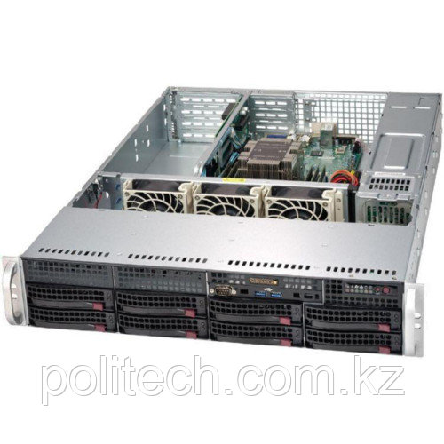 """Сервер Supermicro CSE-825TQ-563LPB/X11DPL SMR0128 (2U Rack, Xeon Silver 4112, 2600 МГц, 4 ядра, 8.25 Мб, 1x 16 ГБ, 3.5"""", 8 шт, Без HDD)"""