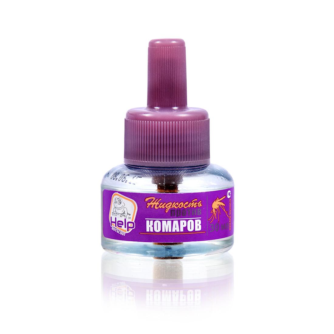 Жидкость от КОМАРОВ HELP 80500 (30 мл, Защита до 30 ночей)