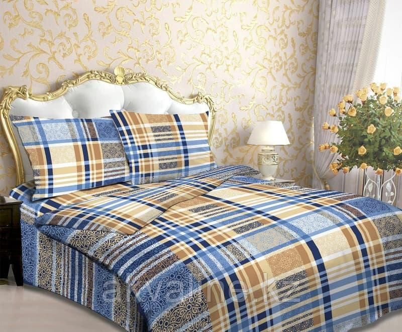 Постельное белье 118-4 Шотландка голубая  «Астра»