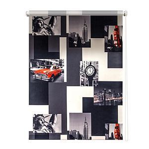 Рулонная штора «Нью-Йорк», 180х175 см, цвет красно-серый