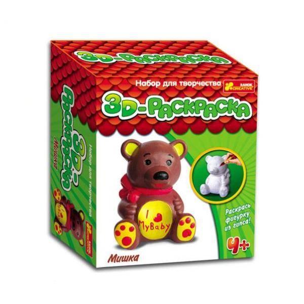 3D раскраски: Медведь