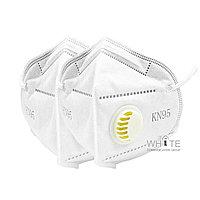 Респираторная защитная маска KN 95 c клапаном