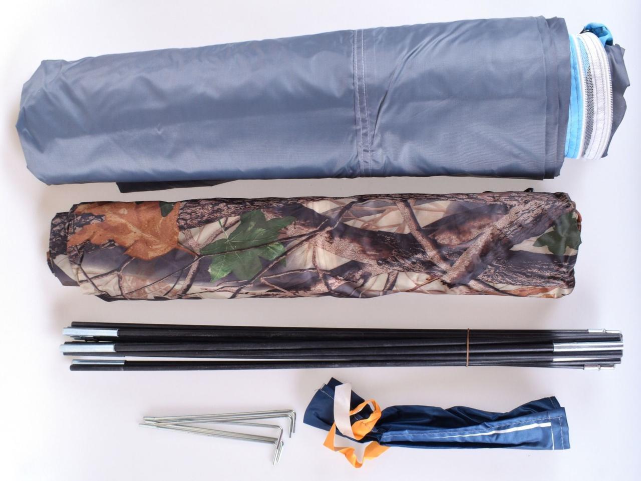 Палатка 3-х местная Hanlu SJ-D22767, 200*200*130 см., (190Т, 3000 мм., 2,4 кг.) - фото 2