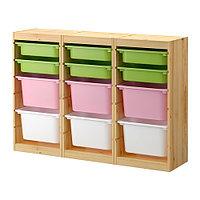 Стеллаж д/хранения игрушек ТРУФАСТ сосна разноцветный ИКЕА, IKEA