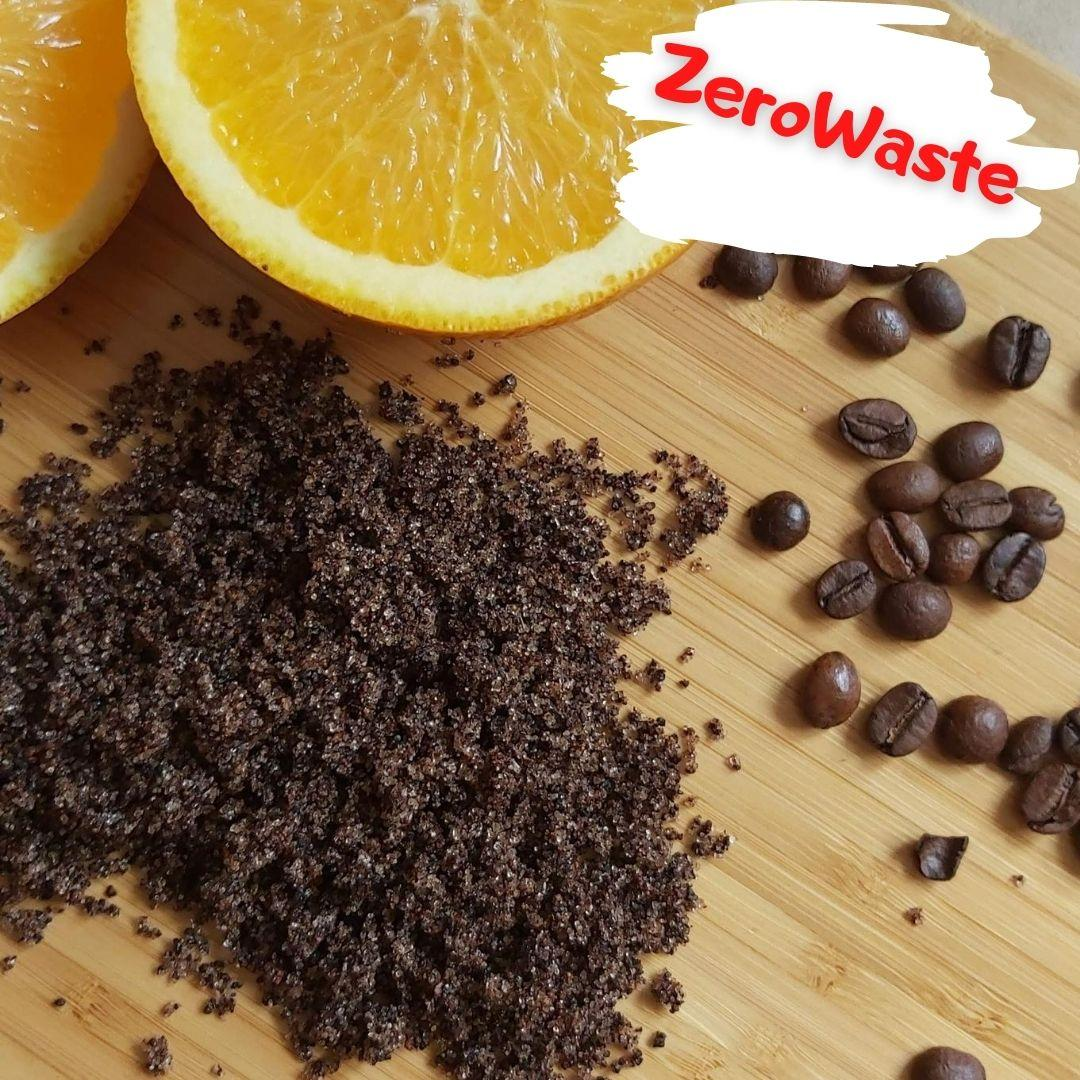 Натуральный кофейный скраб для тела горький апельсин на развес