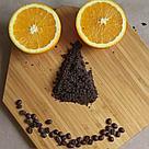 Натуральный кофейный скраб для тела горький апельсин на развес, фото 2