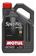 0W20 для Jaguar Land Rover (5Л) Cинтетическое моторное масло Motul