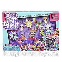 Набор Littlest Pet Shop 12 счастливых петов Капкейк