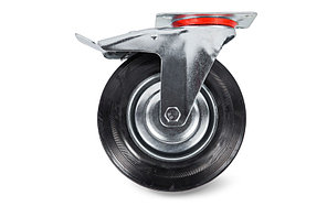 Колесо поворотное тормоз рез. SCb 93 75мм