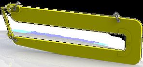 Захват для лестничных маршей LM (г/п 2,5 т, №1) 1590х650х94, 1390х240