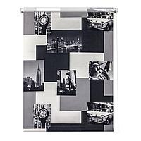 Рулонная штора «Нью-Йорк», 180х175 см, цвет монохром