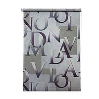 Рулонная штора «Скрипт», 140х175 см, цвет серый