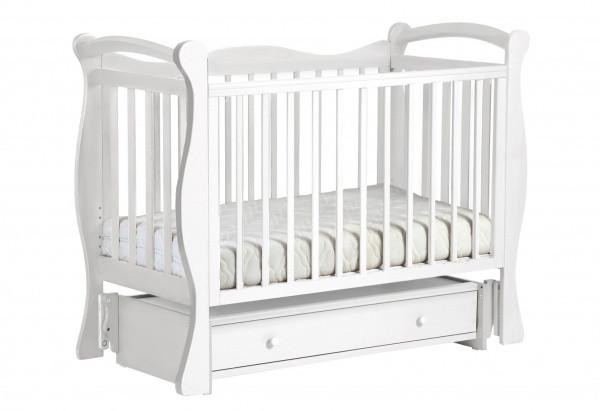 Детская кровать ЛЕЛЬ КУБАНОЧКА-10 маятниковая Белый Д 033
