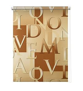 Рулонная штора «Скрипт», 140х175 см, цвет бежевый