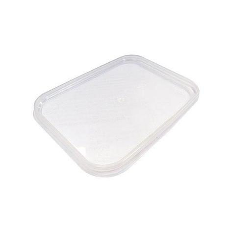 Крышка прес./мёд прямоуг. 120х91мм, полупрозрачная, ПП, 1000 шт, фото 2
