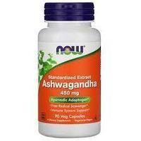 Ашваганда, Now Foods,Стандартизированный экстракт, 450 мг, 90 капсул