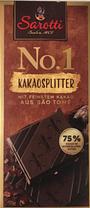 Шоколадная плитка Sarotti Kakaosplitter, Содержание какао 75%, 100 гр