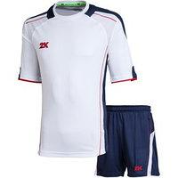 Комплект футбольной формы 2K Sport Viva, white/navy/red, рост 152