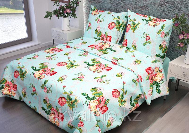 Постельное белье 316-3 Розы голубой  «Астра»