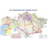 Non-branded Карта автомобильных и железных дорог Казахстана.