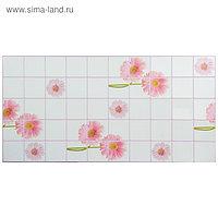 Панель ПВХ Плитка Розовые герберы 955 х 480 мм