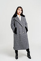Пальто стильное с норковым воротником 2020
