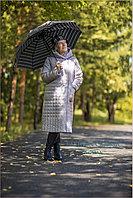 Женское длинное зимнее пальто, верблюжья шерсть (цвет молочный)