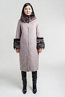 Пальто красивое зимнее с мехом песца от ESOCCO